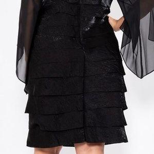 SL Fashions Dresses - Plus Size Key Hole Chiffon Sleeve Cocktail dress